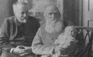 Толстой с внучкой Таней